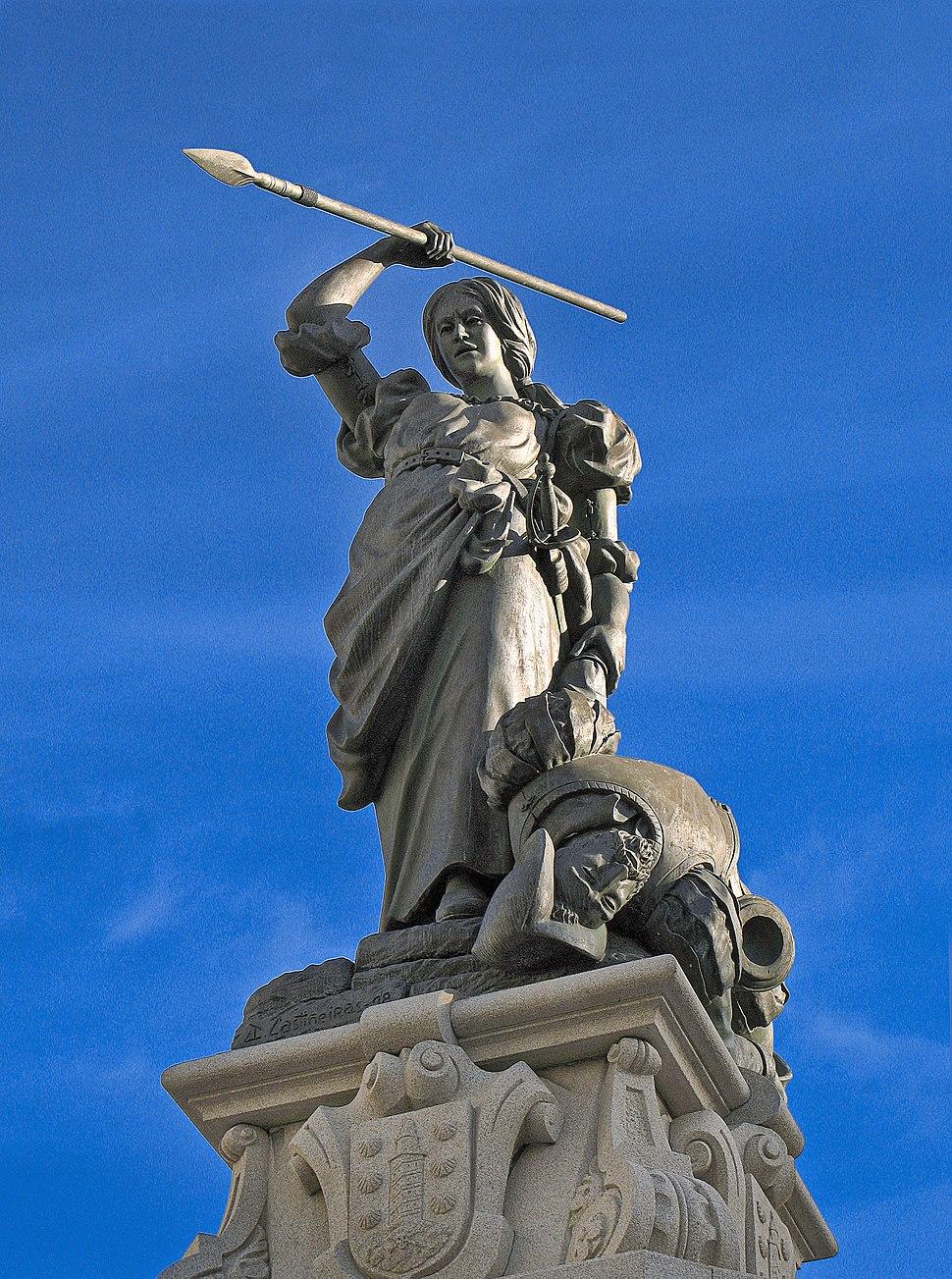 A Coruña. María Pita's statue. Galicia (Spain)