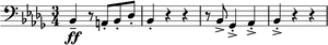 A Hero's Song - The first theme of A Hero's Song, stated by the low strings at the beginning of the piece.