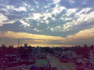 Lakshmipur District - A Road to Dhaka from Lakshmipur at dawn