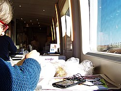 A Spanish lady deftly peels Manchego cheese at 300 km-h - Flickr - TeaMeister.jpg