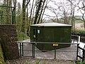A gauging station on the River Torridge down stream from New Bridge - geograph.org.uk - 1836942.jpg