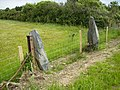 A pair of old slate gateposts - geograph.org.uk - 491392.jpg