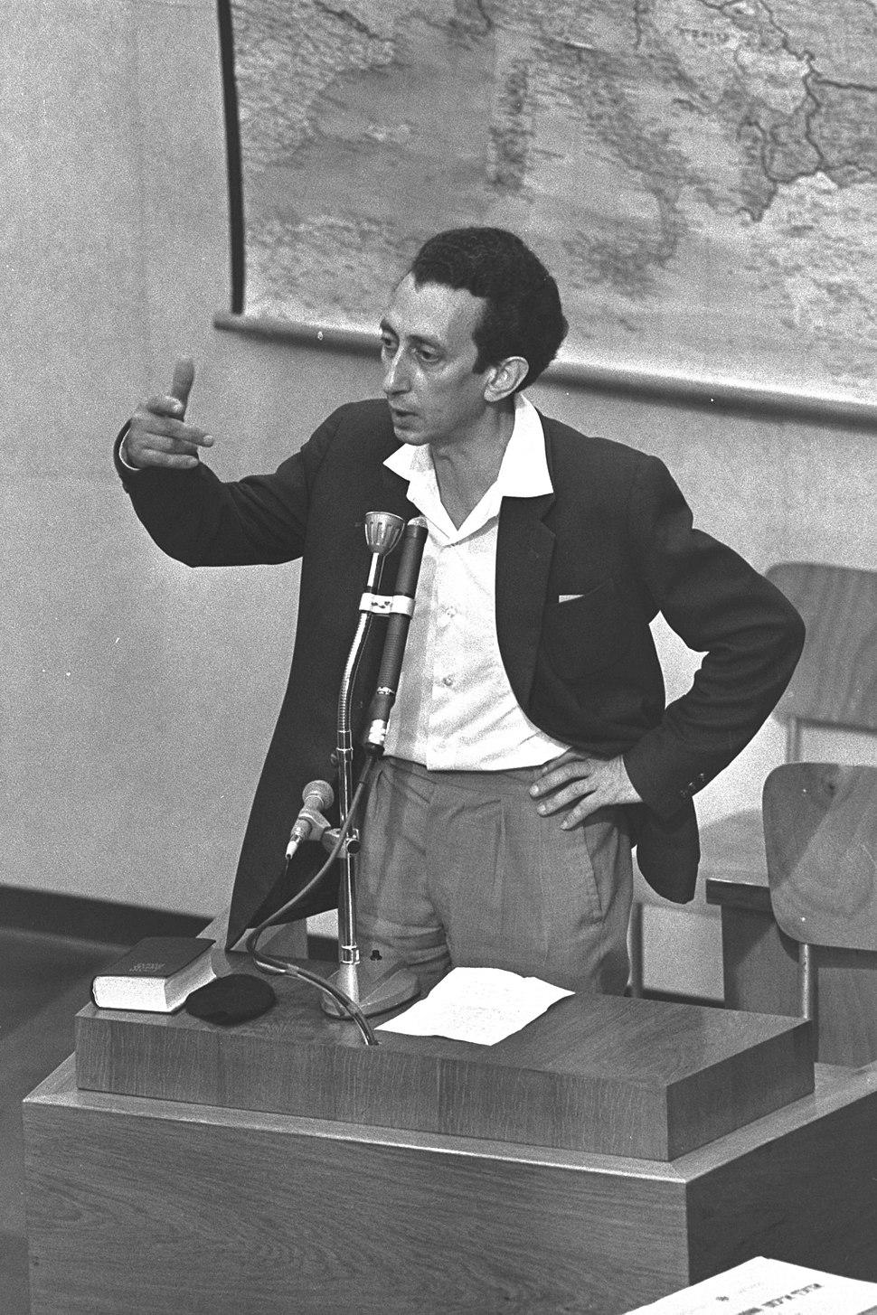 Abba Kovner at Eichmann trial1961
