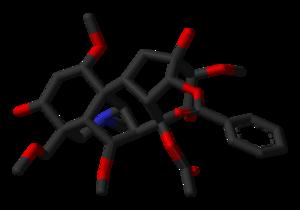 Aconitine - Image: Aconitine xtal 3D sticks skeletal