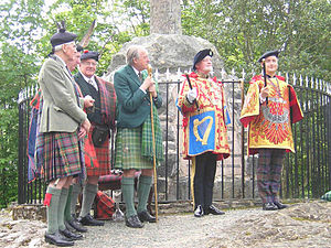 Court of the Lord Lyon - Charles Burnett, Ross Herald at the installation ceremony of the Honorable Adam Bruce as Finlaggan Pursuivant of Arms, a private herald, to Clan MacDonald in 2006.
