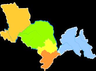 Siping, Jilin - Image: Administrative Division Siping
