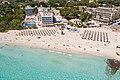 Aerial view of Son Moll beach in Cala Ratjada, Mallorca (48001521883).jpg