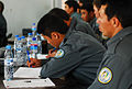Afghan National Police recruits at the Tarin Kot Police Training Center study lessons (4782501746).jpg