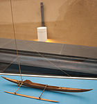 Africa, East Coast, sailing boat with outrigger, model in the Vatican Museums.jpg