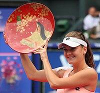 Radwanska won the 2011 Toray Pan Pacific Open.