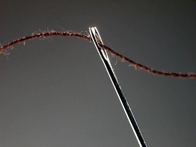 agujas de coser