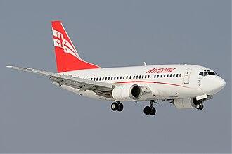 Georgian Airways - Georgian Airways Boeing 737-500  in 2011