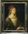 Albrecht Dürer, Selbstbildnis mit Distel, 1493, Museé du Louvre, Paris.png