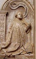 Albrecht von Hohenrechberg, Bischof von Eichstätt 1429-1445, auf Epitaph von 1552 im Eichstätter Dom.jpg