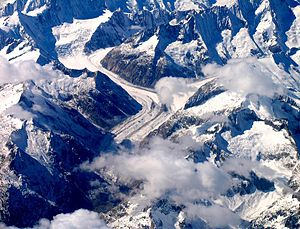 Unteraargletscher - Aerial view from the east
