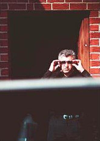 Albanian mafia - Alex Rudaj outside Jimbo's Bar in Astoria, Queens on April 15, 2003