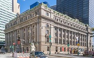 Alexander Hamilton U.S. Custom House Building in Manhattan, New York