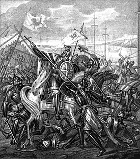 Alexander Nevsky in the battle with the Swedes by Boris Chorikov.jpg