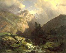 Le Mont-Blanc - Alphonse de Lamartine 220px-Alexandre_Calame_-_The_Jungfrau%2C_Switzerland_-_Walters_37108