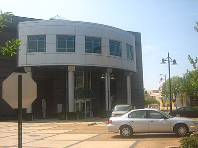 The Alexandria Museum of Art is located downtown along the Red River. Alexandria, LA, art museum IMG 1136.JPG