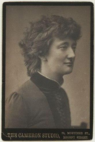 Alice Stopford Green - Portrait taken in the 1880s