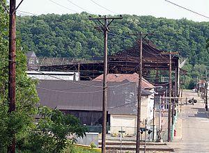 Brackenridge, Pennsylvania - The Allegheny Ludlum Brackenridge Works along Mile Lock Lane at Vermont Avenue