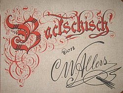 Christian Wilhelm Allers: Backschisch