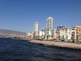 Alsancak - High-rises in northern Alsancak, with the Kordon esplanade in the foreground.
