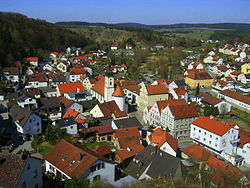 Altmannstein (municipality) Panoramic view, Altmühltal, Germany.JPG