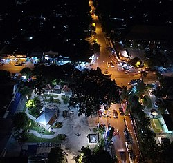 The town of Ngawi at night