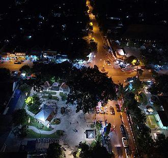 Ngawi Regency - The town of Ngawi at night