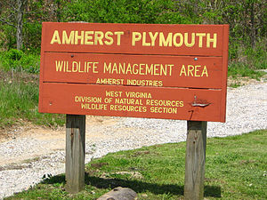 Amherst-Plymouth Wildlife Management Area - Image: Amherst Plymouth WMA sign