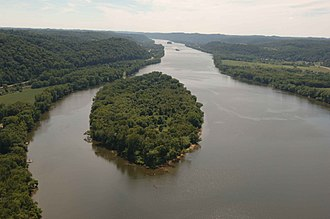 Ohio River Islands National Wildlife Refuge - Image: An aerial view of the ohio river islands national wildlife refuge
