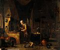 An alchemist in his laboratory. Oil painting by a follower o Wellcome V0017665.jpg