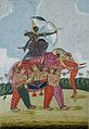 An elephant, composite, made up of dancing women serves as a mount to an archer (6125145976).jpg