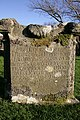 An old gravestone at Staplegordon cemetery - geograph.org.uk - 1604904.jpg