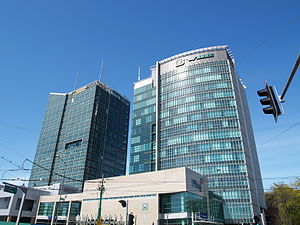 Andersia Tower - Andersia Tower (left) and Poznań Financial Centre (right)