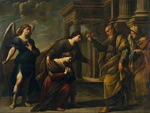 Raguel's Blessing of her Daughter Sarah before Leaving Ecbatana with Tobias