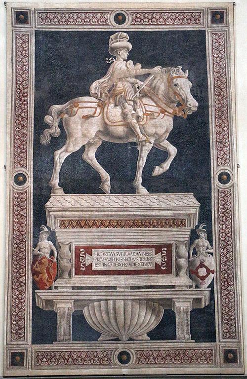 File:Andrea del castagno, Monumento equestre di Niccolò da ...