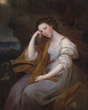 Sir Archibald Macdonald, 1st Baronet - Macdonald's wife Louisa, Lady MacDonald, by Angelica Kauffman, 1767