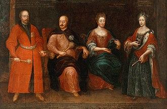 Stanisław Ernest Denhoff - The Sieniawski family with Stanisław Ernest Denhoff on the left side.