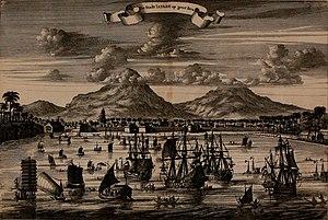 Jepara Regency - Jepara city views around the year 1650