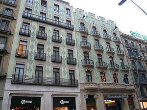 Carrer de Pelai, Barcelona - Former headquarters of La Vanguardia, now a hotel.