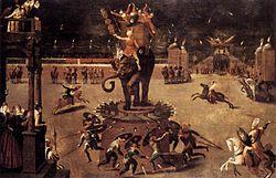 Antoine Caron: Merry-go-Round with Elephant