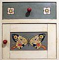 Antonio rubino, camera da bambino, industria veneziana di mobili laccati, 1924 circa, comodino 02.jpg