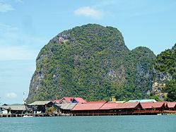Ko Panyi floating village in Ao Phang Nga National Park