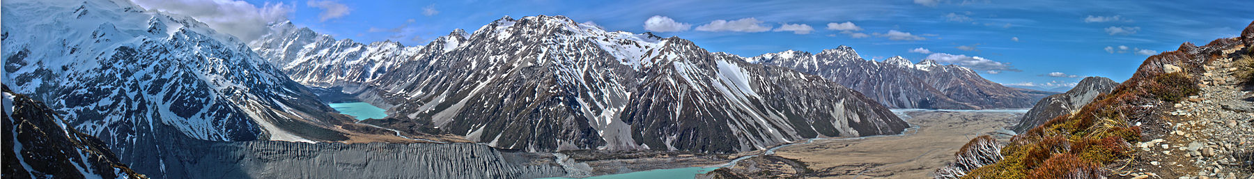 Mount Cook from Sealy Tarns