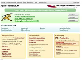 Apache Tomcat - Image: Apache tomcat frontpage epiphany browser