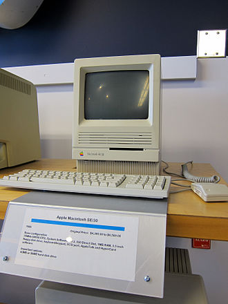 HyperCard - The Apple Macintosh SE/30 was one of the  computers that ran the HyperCard program.