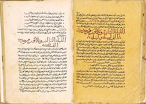 History of literature - Arabic manuscript of the One Thousand and One Nights.